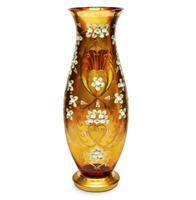 Bộ sưu tập lọ hoa pha lê màu vàng cao cấp
