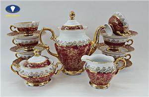 Những bộ trà sứ cao cấp hoa đỏ đẹp nhất hiện nay