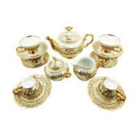 3 bộ trà sứ cao cấp hoa vàng siêu sang cho Tết 2018