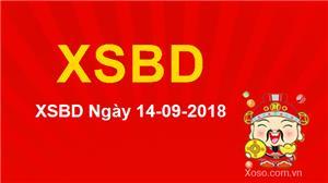 XSBD 14/9/2018 - Kết quả xổ số Bình Dương ngày 14/9 Thứ 6