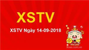XSTV 14/9/2018 - Kết quả xổ số Trà Vinh ngày 14/9 Thứ 6