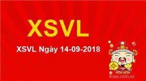 XSVL 14/9/2018 - Kết quả xổ số Vĩnh Long ngày 14/9 Thứ 6