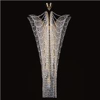Những mẫu đèn pha lê thông tầng tuyệt đẹp cho không gian lộng lẫy