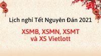 Lịch nghỉ Tết Nguyên Đán 2021 xổ số kiến thiết Bắc - Trung - Nam và Vietlott
