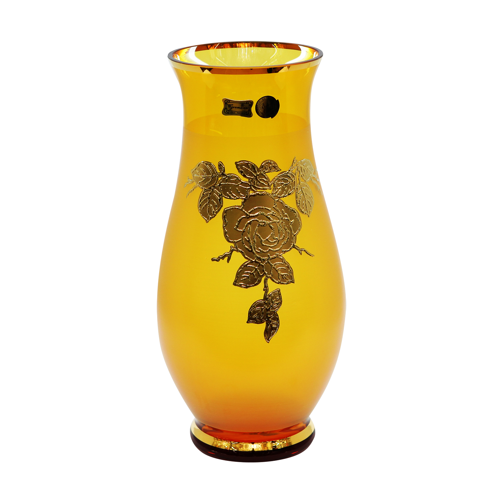 Lọ hoa pha lê màu vàng cao cấp