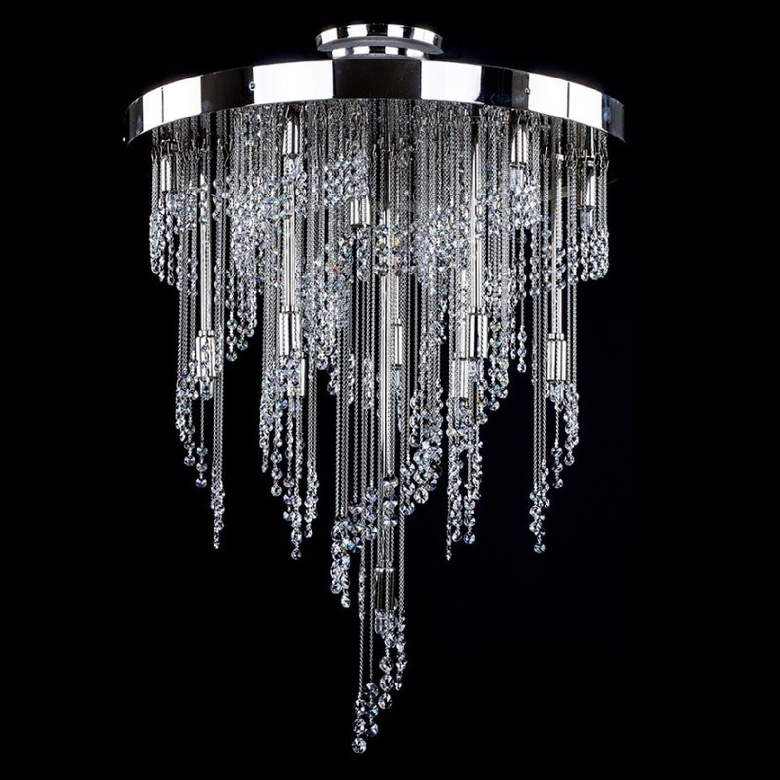 đèn chùm pha lê phòng khách hiện đại
