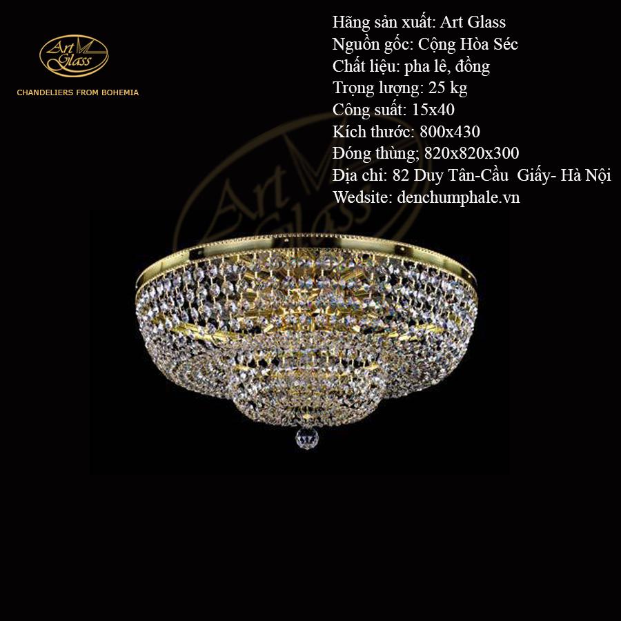 Đèn trần GEENA DIA 800 2 khối tròn gọn gàng | Công ty TNHH Quà tặng pha lê