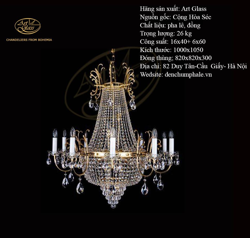 Đèn trần HILLARY DIA 1000 16 bóng ấn tượng | Công ty TNHH Quà tặng pha lê