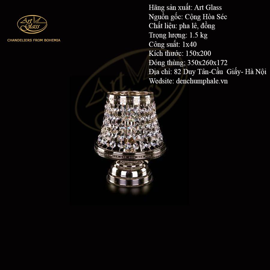 Đèn bàn KLOTYLDA I NICKEL TL 5 bóng, dày phê lê | Công ty TNHH Quà tặng pha lê