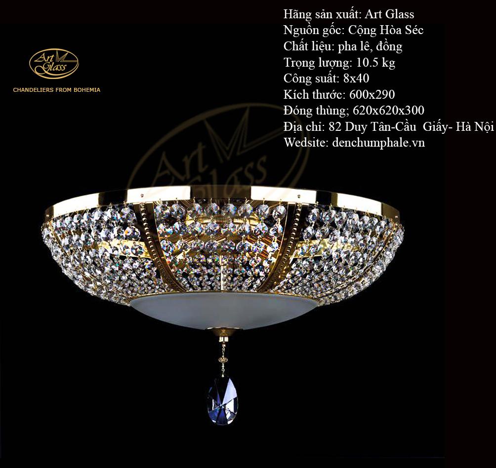 Đèn trần Pilar dia 600 xa, hoa lộng lẫy | Công ty TNHH Quà tặng pha lê