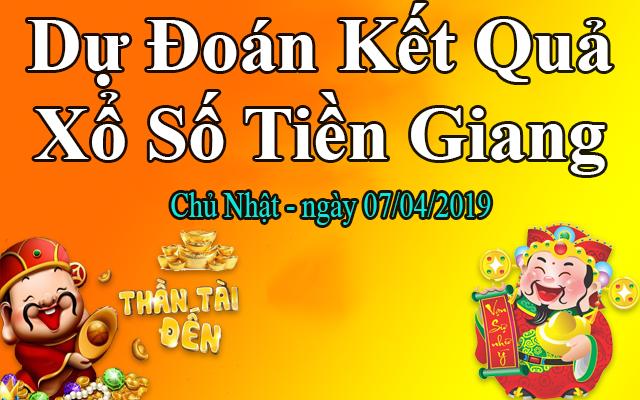 Dự Đoán XSTG 07/04 – Dự Đoán Xổ Số Tiền Giang Chủ Nhật Ngày 07/04/2019
