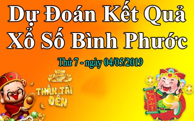 Dự Đoán XSBP 04/05 – Dự Đoán Xổ Số Bình Phước thứ 7 Ngày 04/05/2019