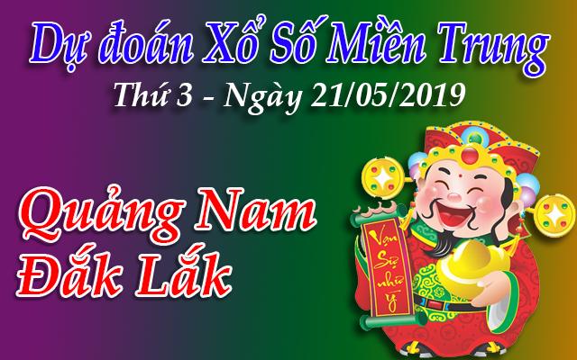 Dự Đoán XSMT 21/05 - Dự đoán xổ số Miền Trung Thứ 3 ngày 21/05/2019