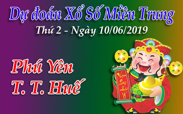 Dự Đoán XSMT 10/06 - Dự đoán xổ số Miền Trung Thứ 2 ngày 10/06/2019