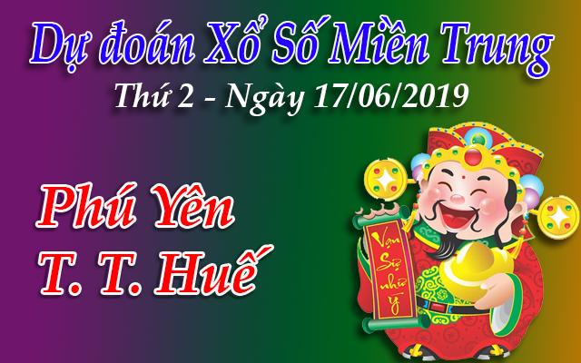 Dự Đoán XSMT 17/06 - Dự đoán xổ số Miền Trung Thứ 2 ngày 17/06/2019