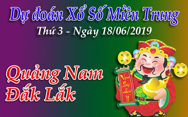 Dự Đoán XSMT 18/06 - Dự đoán xổ số Miền Trung Thứ 3 ngày 18/06/2019