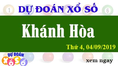 Dự Đoán XSKH 04/09/2019 – Dự Đoán Xổ Số Khánh Hòa Thứ 4 ngày 04/09/2019