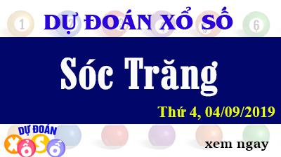 Dự Đoán XSST 04/09/2019 – Dự Đoán Xổ Số Sóc Trăng Thứ 4 ngày 04/09/2019