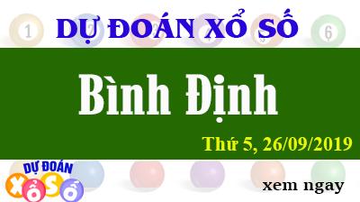 Dự Đoán XSBDI 26/09/2019 – Dự Đoán Xổ Số Bình Định Thứ 5 ngày 26/09/2019