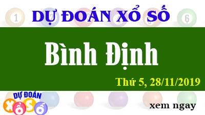 Dự Đoán XSBDI 28/11/2019 – Dự Đoán Xổ Số Bình Định Thứ 5 ngày 28/11/2019