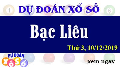 Dự Đoán XSBL – Dự Đoán Xổ Số Bạc Liêu Thứ 3 ngày 10/12/2019