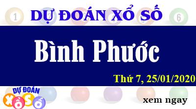 Dự Đoán XSBP – Dự Đoán Xổ Số Bình Phước Thứ 7 ngày 25/01/2020