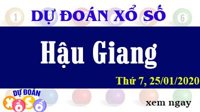 Dự Đoán XSHG – Dự Đoán Xổ Số Hậu Giang thứ 7 Ngày 25/01/2020
