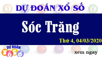 Dự Đoán XSST – Dự Đoán Xổ Số Sóc Trăng Thứ 4 ngày 04/03/2020