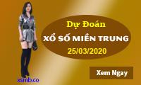 Dự đoán XSMT - Dự Đoán Xổ Số Miền Trung Thứ  4 Ngày 25/03/2020