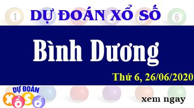 Dự Đoán XSBD – Dự Đoán Xổ Số Bình Dương Thứ 6 ngày 26/06/2020