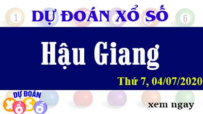 Dự Đoán XSHG – Dự Đoán Xổ Số Hậu Giang Thứ 7 ngày 04/07/2020