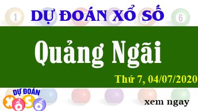 Dự Đoán XSQNG – Dự Đoán Xổ Số Quảng Ngãi Thứ 7 ngày 04/07/2020