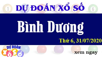 Dự Đoán XSBD – Dự Đoán Xổ Số Bình Dương Thứ 6 ngày 31/07/2020