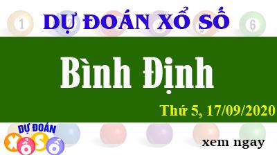 Dự Đoán XSBDI – Dự Đoán Xổ Số Bình Định Thứ 5 ngày 17/09/2020