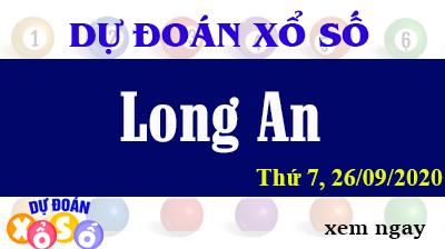 Dự Đoán XSLA – Dự Đoán Xổ Số Long An Thứ 7 ngày 26/09/2020