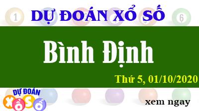 Dự Đoán XSBDI – Dự Đoán Xổ Số Bình Định Thứ 5 ngày 01/10/2020