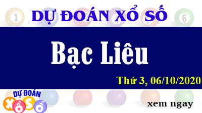 Dự Đoán XSBL 06/10 – Dự Đoán Xổ Số Bạc Liêu Thứ 3 ngày 06/10/2020