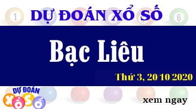 Dự Đoán XSBL – Dự Đoán Xổ Số Bạc Liêu Thứ 3 ngày 20/10/2020