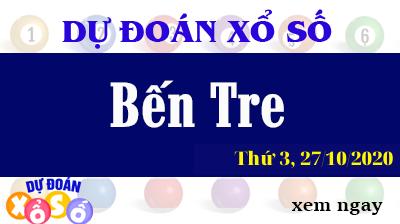 Dự Đoán XSBTR – Dự Đoán Xổ Số Bến Tre Thứ 3 ngày 27/10/2020