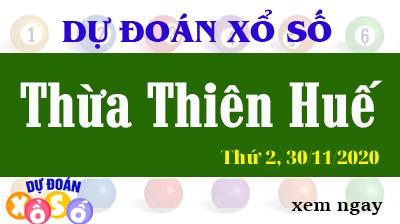 Dự Đoán XSTTH – Dự Đoán Xổ Số Huế Thứ 2 ngày 30/11/2020
