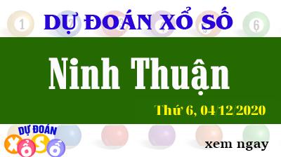 Dự Đoán XSNT – Dự Đoán Xổ Số Ninh Thuận Thứ 6 ngày 04/12/2020