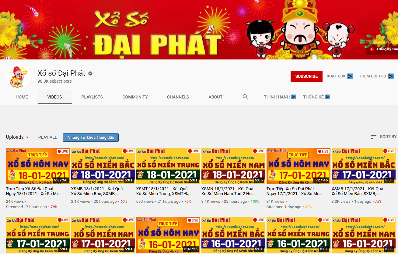 cách dò vé số bằng youtube