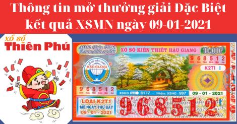 Kết Quả XSMN - Thông Tin Trúng Thưởng Giải ĐB Mở Thưởng Ngày 09-01-2021