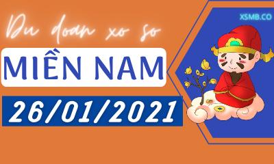 Dự đoán XSMN 26/01 - Dự Đoán Xổ Số Miền Nam Thứ 3 Ngày 26/01/2021