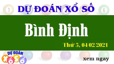 Dự Đoán XSBDI – Dự Đoán Xổ Số Bình Định Thứ 5 ngày 04/02/2021