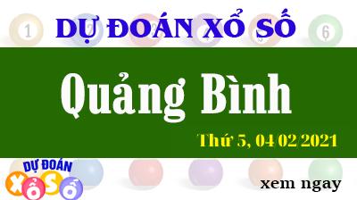 Dự Đoán XSQB – Dự Đoán Xổ Số Quảng Bình Thứ 5 ngày 04/02/2021