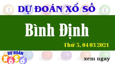 Dự Đoán XSBDI – Dự Đoán Xổ Số Bình Định Thứ 5 ngày 04/03/2021