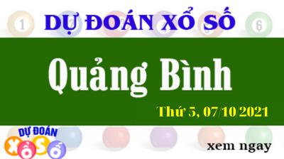 Dự Đoán XSQB Ngày 07/10/2021 – Dự Đoán KQXSQB Thứ 5