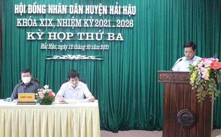 ky hop thu ba (ky hop chuyen de) hdnd huyen khoa xix, nhiem ky 2021-2026