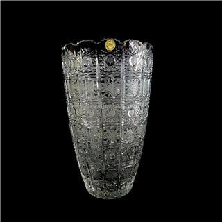 Lọ hoa pha lê 80756.57.450 cao 35.5cm Tiệp Khắc